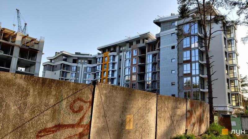 Хід будівництва ЖК На Прорізній 2, 1 будинок (секції 1-3), червень 2021