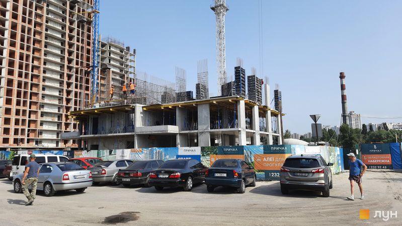 Ход строительства ЖК Причал 8, 2 дом, июль 2021
