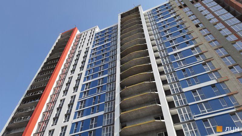 Ход строительства ЖК Причал 8, 1 дом (секции 3, 4), июль 2021