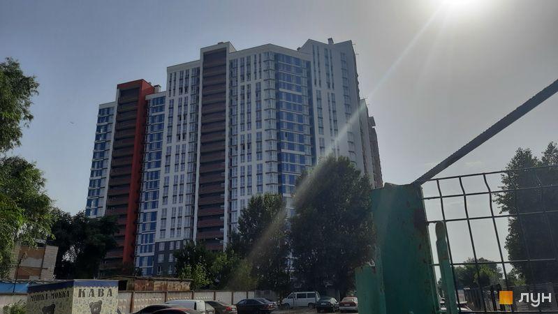 Ход строительства ЖК Причал 8, 1 дом (секции 1-3), июль 2021