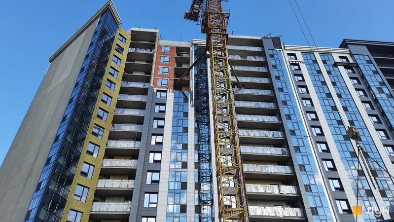 Хід будівництва ЖК Львівська площа, 1, 2 секції, липень 2021