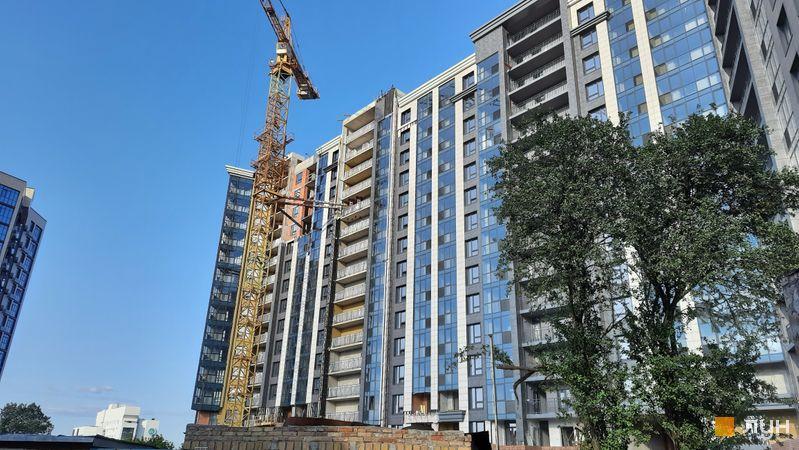 Хід будівництва ЖК Львівська площа, 1-3 секції, липень 2021