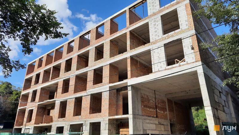 Ход строительства Клубный дом «Марсель», 1 дом, август 2021