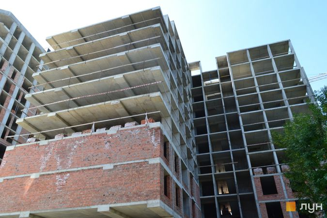 Хід будівництва ЖК Deluxe-2, Будинок, вересень 2021