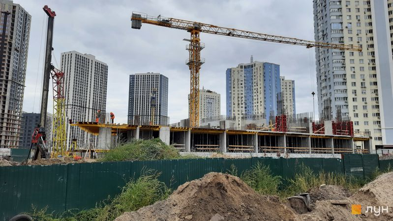 Хід будівництва ЖК Метрополіс, 4 будинок (секція 5), вересень 2021