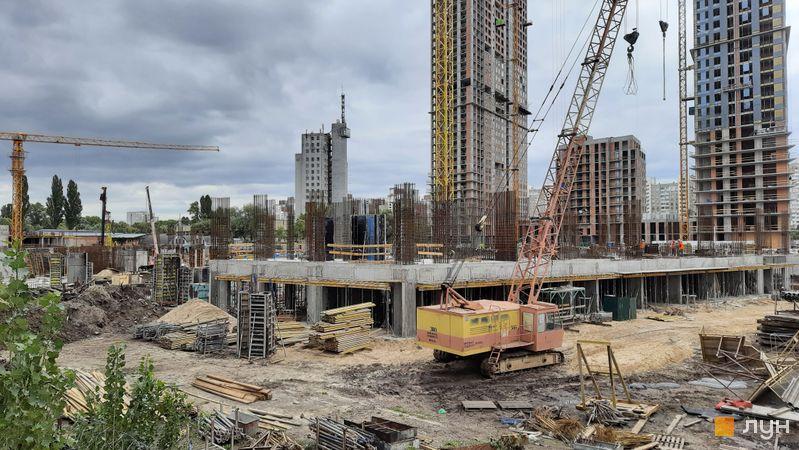Хід будівництва ЖК Метрополіс, 4 будинок (секції 1,2), вересень 2021