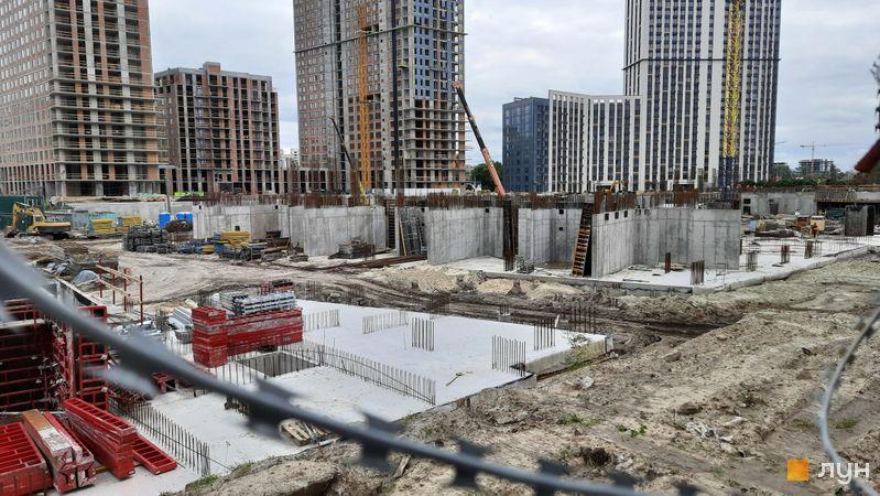 Хід будівництва ЖК Метрополіс, 4 будинок (секції 3, 4), вересень 2021