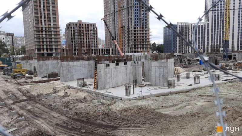 Хід будівництва ЖК Метрополіс, 4 будинок (секція 3), вересень 2021