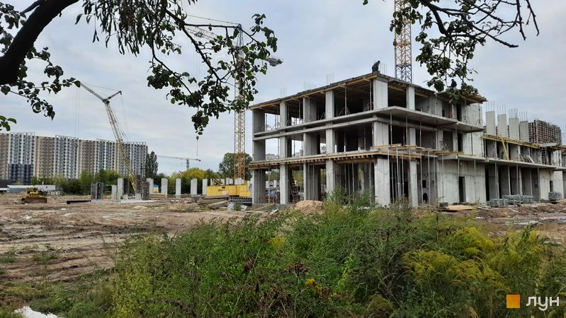 Хід будівництва ЖК Феофанія City, 1 будинок, вересень 2021