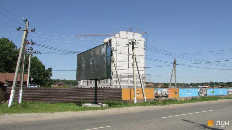 Ход строительства ЖК Orange Park, ул. Одесская, 23а (секция 1А), июнь 2016