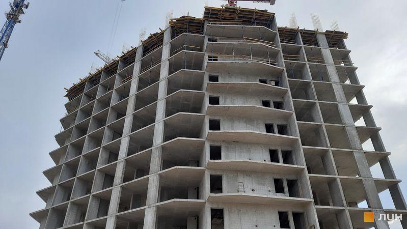 Ход строительства ЖК Причал 8, 2 дом, октябрь 2021