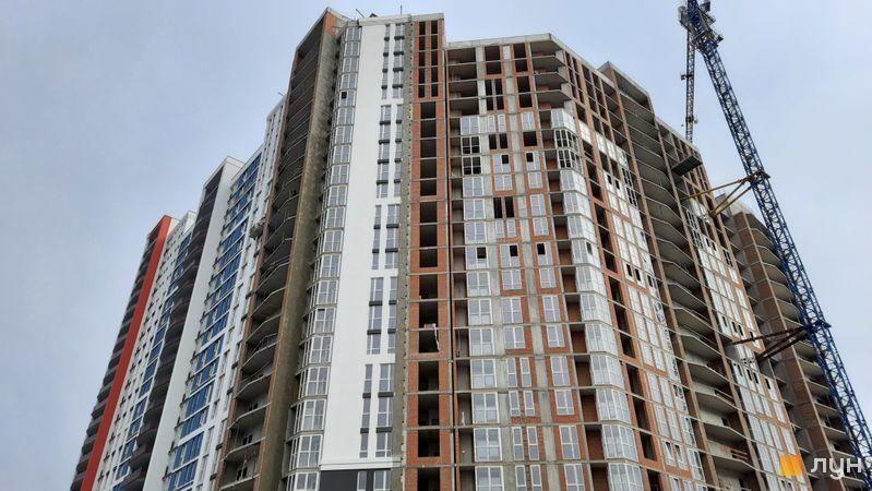 Ход строительства ЖК Причал 8, 1 дом (секции 3-6), октябрь 2021