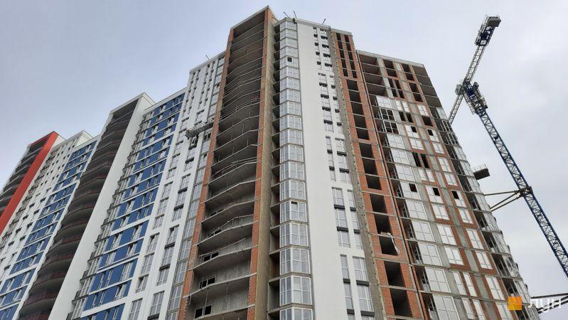 Ход строительства ЖК Причал 8, 1 дом (секция 5), октябрь 2021