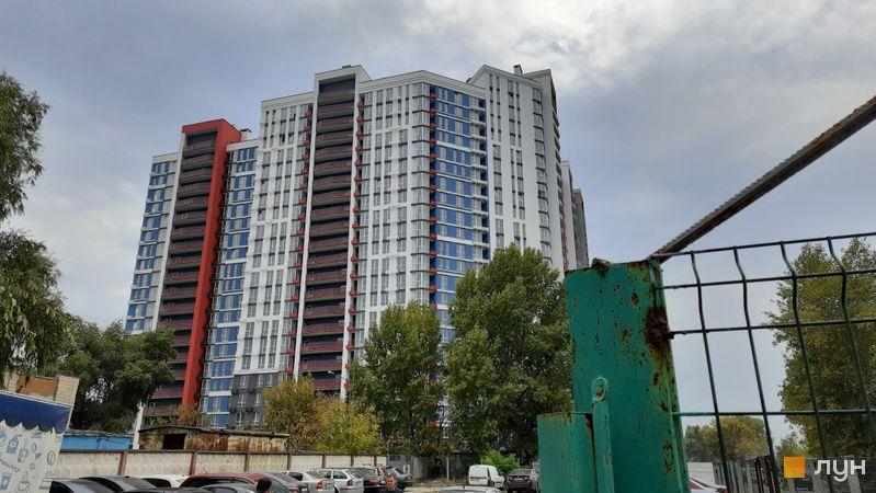 Ход строительства ЖК Причал 8, 1 дом (секции 1-3), октябрь 2021