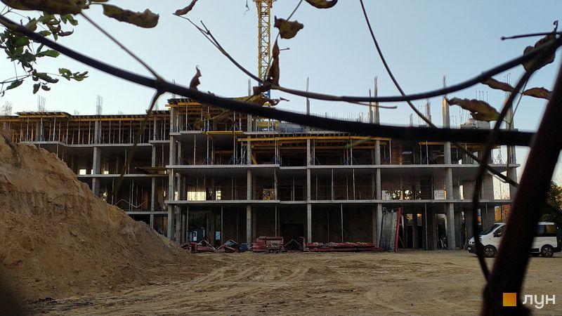 Хід будівництва ЖК Vyshgorod Sky, 1 будинок, жовтень 2021