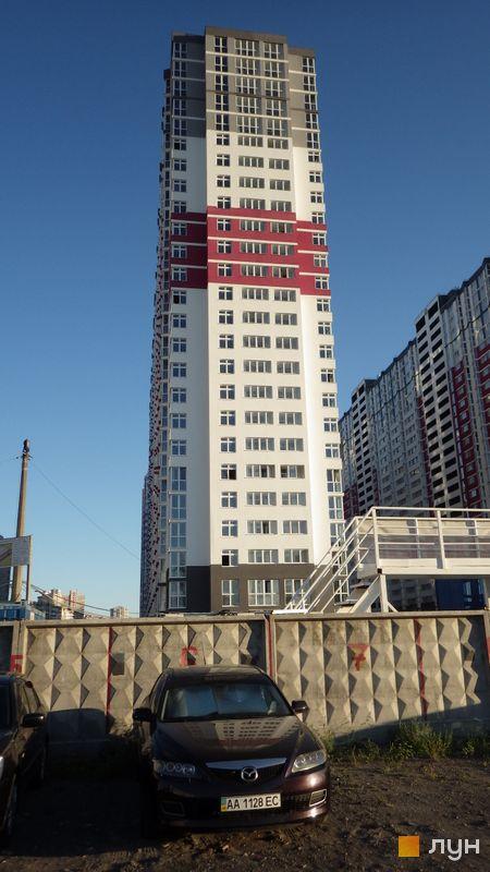 Хід будівництва ЖК Позняки-4а, 5 черга (вул. Драгоманова, 2), серпень 2016