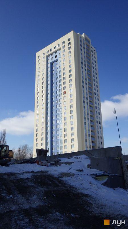 Хід будівництва ЖК Академіка Глушкова, 92б, 3 будинок (просп. Глушкова, 9г), лютий 2015