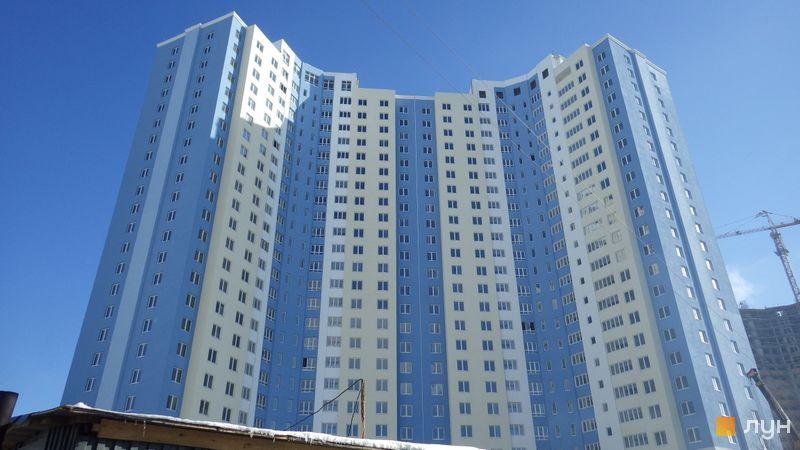 Хід будівництва ЖК Академіка Глушкова, 92б, 1 будинок (просп. Глушкова, 9в), лютий 2015