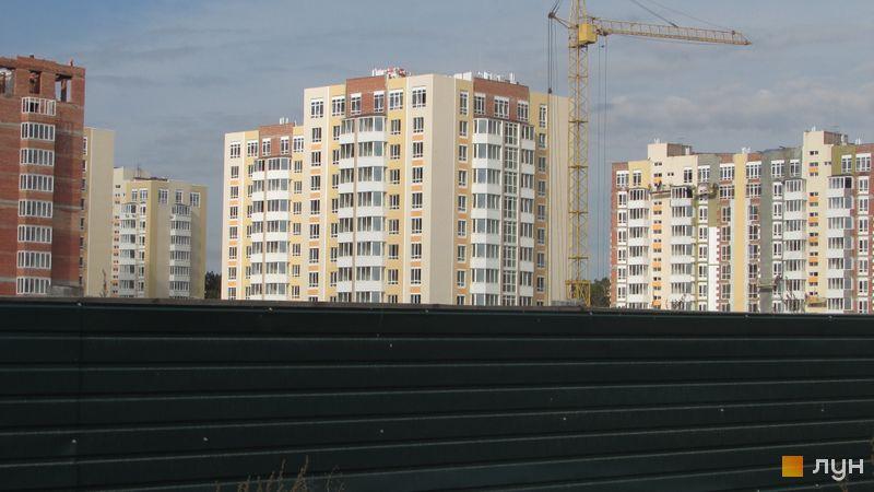 Ход строительства ЖК Петровский квартал, 9 очередь (ул. Леси Украинки, 14а, 14б), октябрь 2016