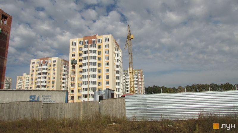 Ход строительства ЖК Петровский квартал, 9 очередь (ул. Леси Украинки, 14б), октябрь 2016