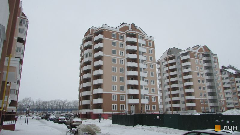 Ход строительства ЖК Квартал Буча, 3 очередь (дом 1), январь 2017