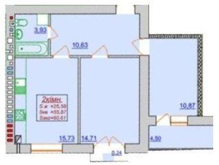 Похожая 2-комнатная 60.61м²
