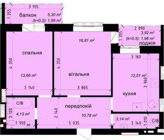 Похожая 2-комнатная 63.2м²