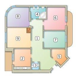 ул. Братьев Тимошенко, 2б: планировка 4-комнатной квартиры 145.8 м2, тип 4-145.8