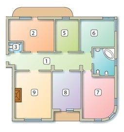 ул. Братьев Тимошенко, 2б: планировка 4-комнатной квартиры 151.2 м2, тип 4-151.2