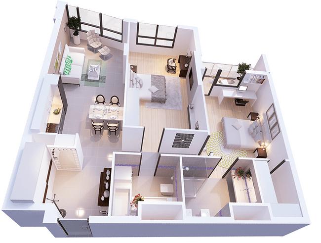 ЖК Park Avenue VIP: планировка 2-комнатной квартиры 102.12 м2, тип Цюрих