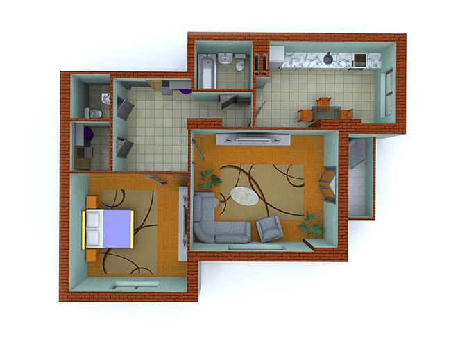 ЖК Столичные каштаны: планировка 2-комнатной квартиры 77.42 м2, тип 2-Т