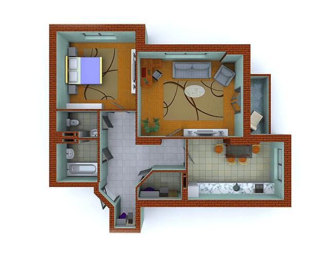 ЖК Столичные каштаны: планировка 2-комнатной квартиры 78.98 м2, тип 2-С