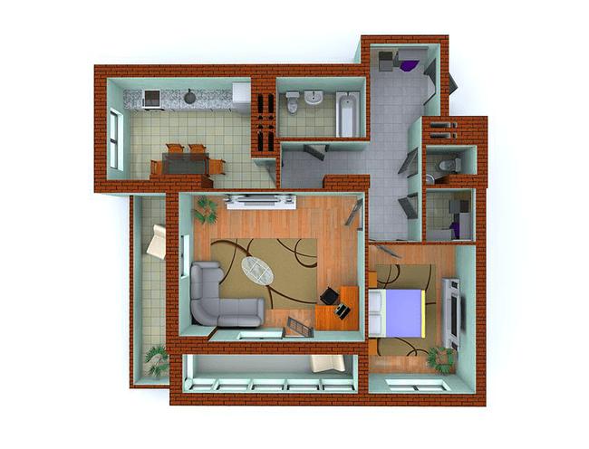 ЖК Столичные каштаны: планировка 2-комнатной квартиры 79.41 м2, тип 2-Ш