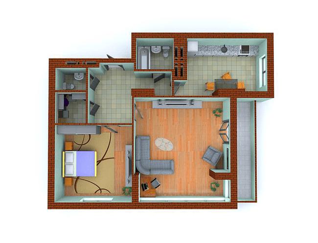 ЖК Столичные каштаны: планировка 2-комнатной квартиры 84.6 м2, тип 2-Ч