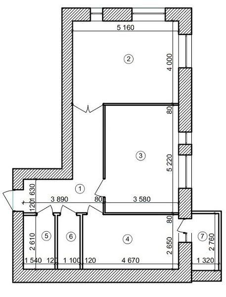 ЖК Forest Land: планировка 2-комнатной квартиры 71.58 м2, тип Бейкер