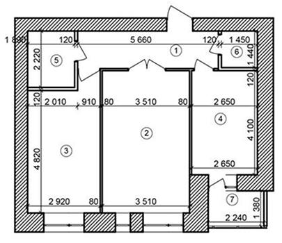 ЖК Forest Land: планировка 2-комнатной квартиры 60.88 м2, тип 2Б