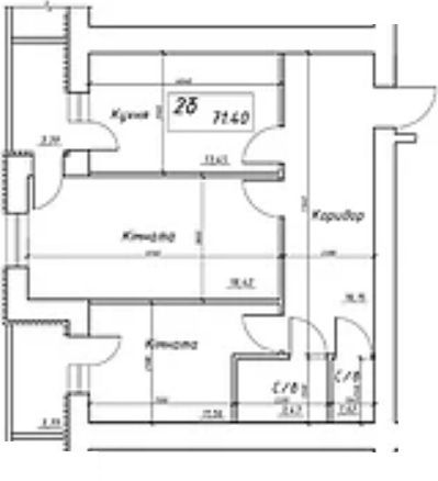 вул. Інтернаціоналістів, 1: планування 2-кімнатної квартири 71.4 м2, тип 2б