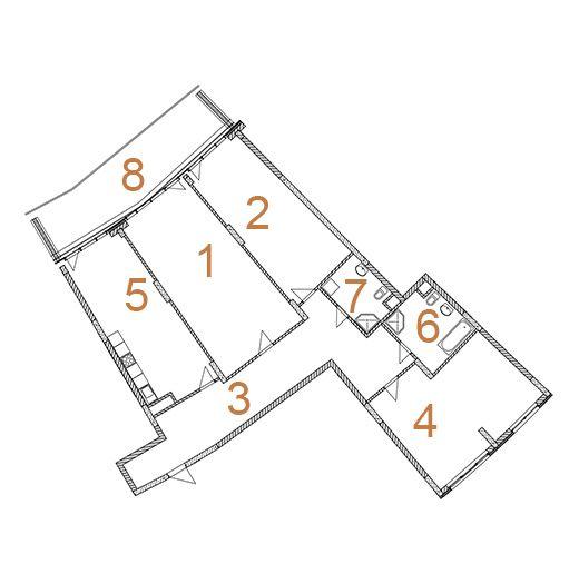 ЖК Сонячна брама: планировка 3-комнатной квартиры 190.6 м2, тип 3-190.6