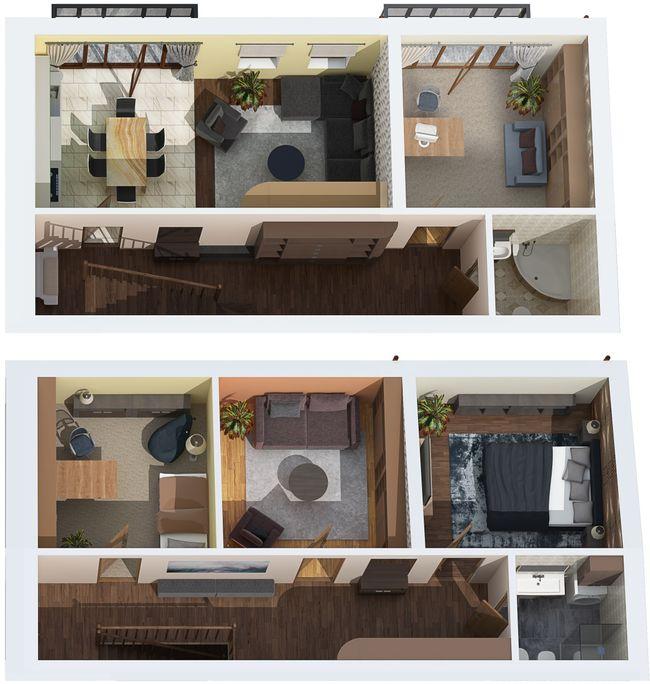 ЖК Каменецкий: планировка двухуровневой квартиры 150.6 м2, тип 5-150.60