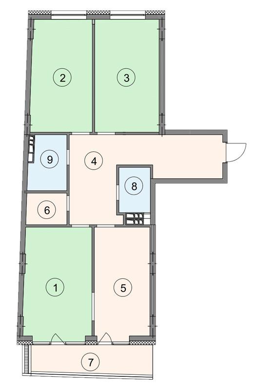 ЖК Crystal Park: планування 3-кімнатної квартири 111.1 м2, тип 3-111.1