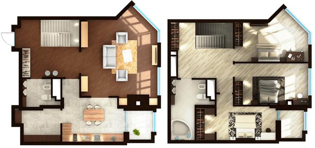 ЖК Elyseum: планування дворівневої квартири 145.61 м2, тип 4-145.61
