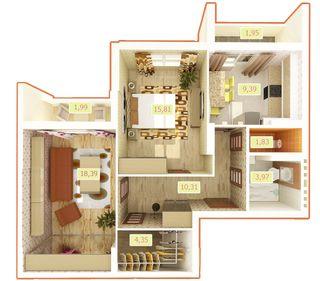 ЖК Palladium  планировка 2-комнатной квартиры 67.98 м2 21d4815d57133