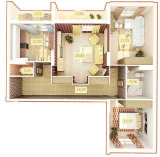 ЖК Palladium  планування 3-кімнатних квартир — ЛУН (Бровари) 69f15be3adc28