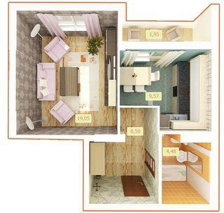 ЖК Palladium  планировка 1-комнатной квартиры 43.55 м2 c675162c1af2e